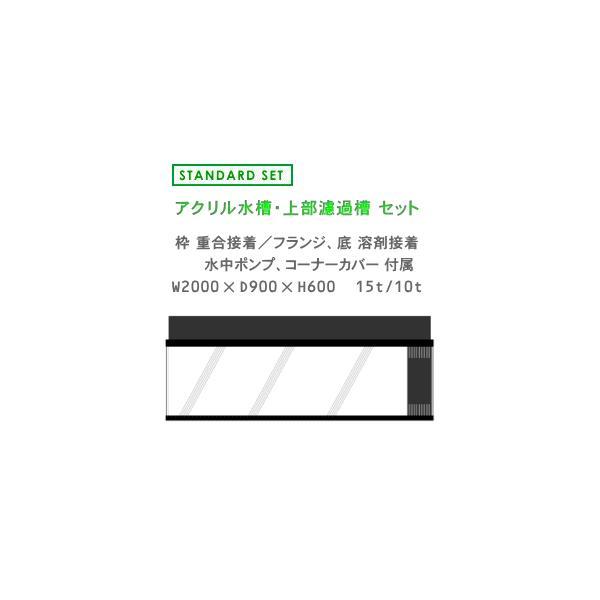 W2000×D900×H600 アクリル水槽 スタンダードセット