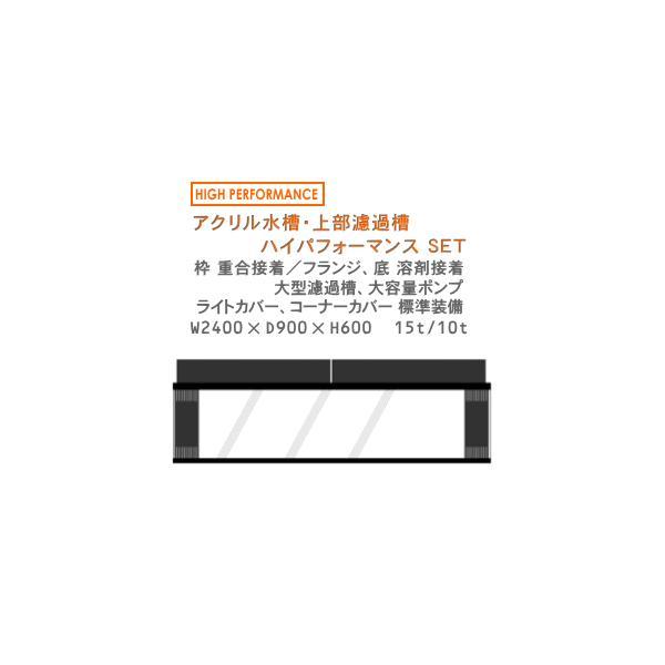 W2400×D900×H600 アクリル水槽 ハイパフォーマンスセット