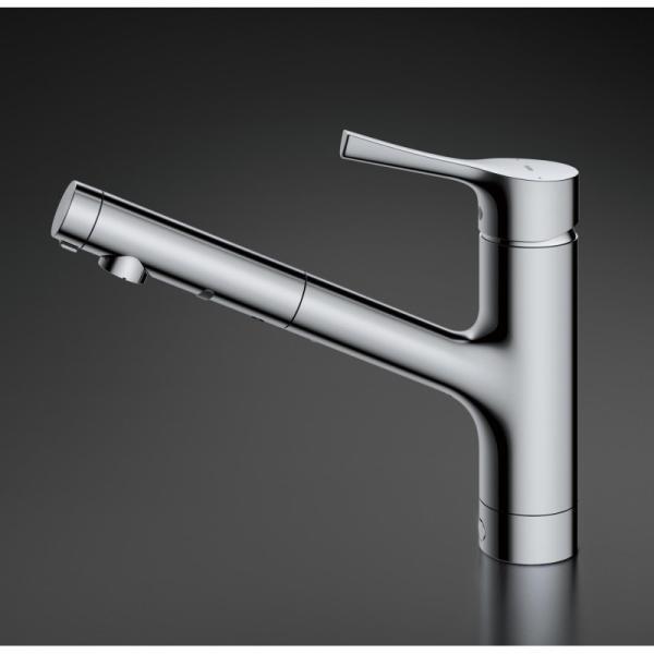 TOTO台付シングル混合水栓TKS05305Jエコシングルハンドシャワーキッチン水栓GGシリーズ