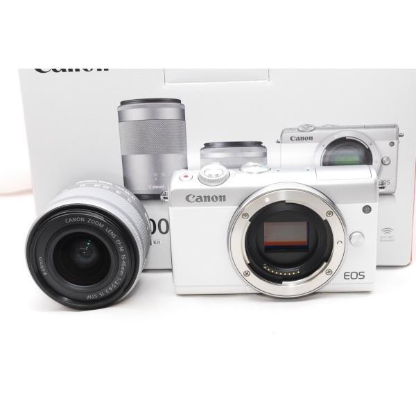 【送料無料】キャノン Canon EOS M100 EF-M15-45 IS STM レンズキット [ホワイト] 一眼レフカメラ【新品・国内正規品・ダブルズームレンズキット化粧箱】|aquacafe|02