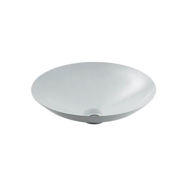 カクダイ 493-045-W 丸型洗面器/ホワイト 鉄穴(かんな)シリーズ