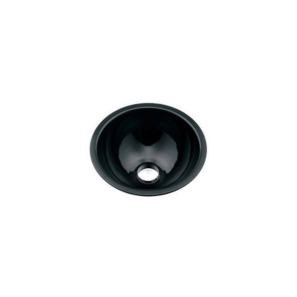 カクダイ 493-026-D 丸型手洗器/ブラック 鉄穴(かんな)シリーズ