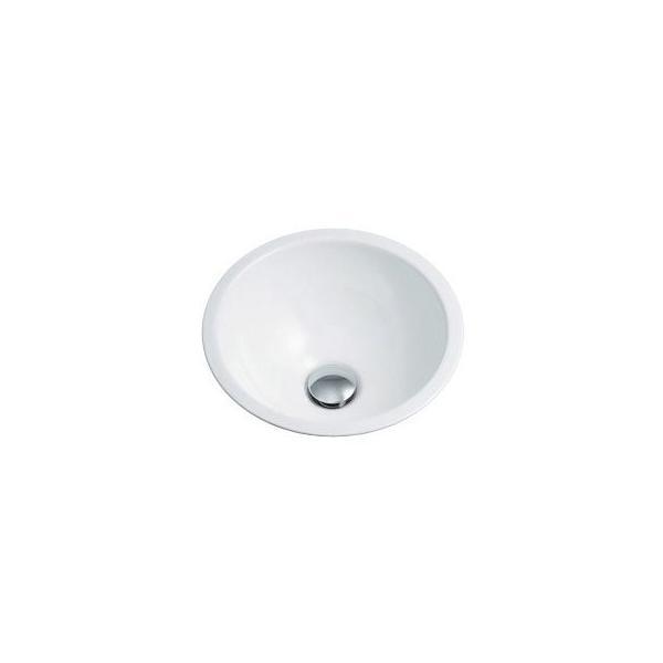 カクダイ 493-026-W 丸型手洗器/ホワイト 鉄穴(かんな)シリーズ