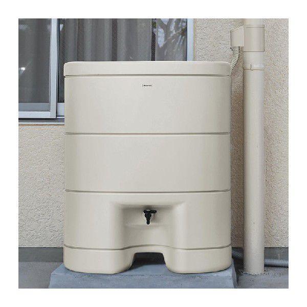 パナソニック レインセラー200(MQW103) 雨水貯留タンク + 一般たてとい用接続部材 (取出します・戻します) MQW120 パールグレー(しろ) セット