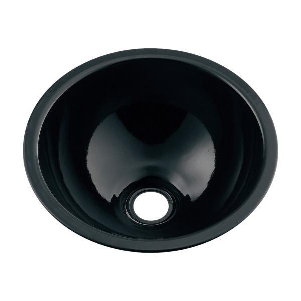 カクダイ 鉄穴 かんな 丸型手洗器 493-026-D(ブラック)