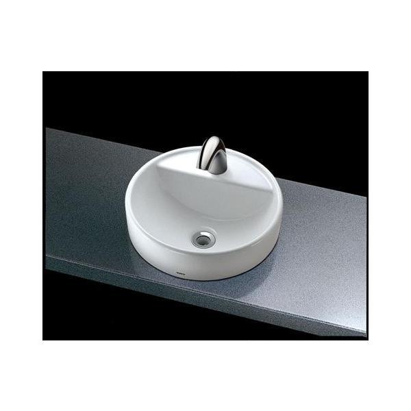 TOTOベッセル式手洗器(丸形)自動水栓(単水栓)L652D+TENA12B