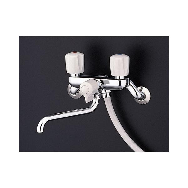 TOTO壁付2ハンドル混合水栓(一時止水なしタイプ・スプレー(節水))TMS25CTMS25CU