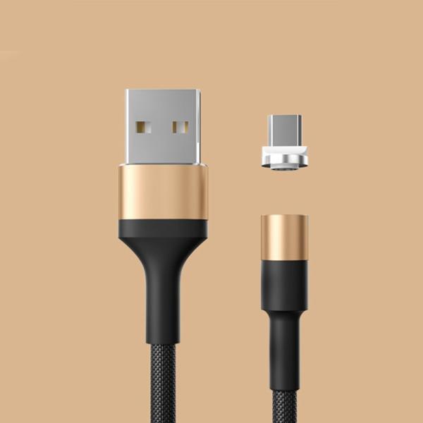 充電ケーブル ライトニングケーブル Micro USB Type C ケーブル 2.4A急速充電 高速データ転送 USB同期&充電 高耐久 磁石 マグネット式 ar-roman 12