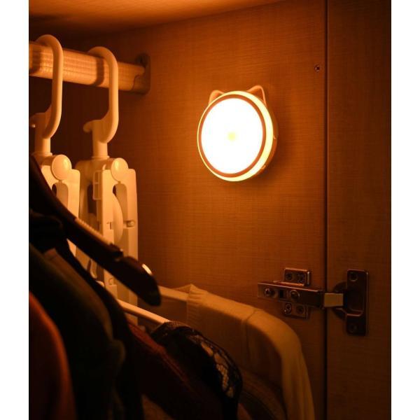 LEDライト 人感センサーライト 照明 屋内  LED 自動点灯 停電 玄関 階段 廊下 乾電池 フットライト防犯 災害 非常灯 電球色|ar-roman|15