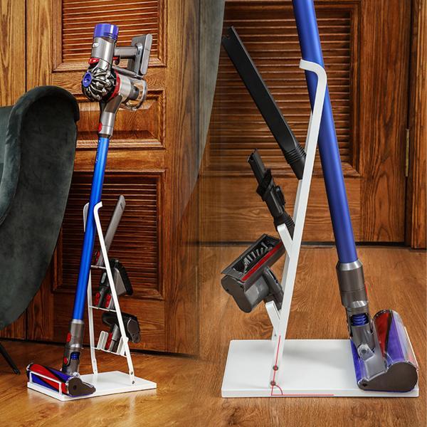 クリーナースタンド スティッククリーナースタンド 掃除機たて 掃除機スタンド 収納 掃除機立て コードレス クリーナースタンド ホワイト ブラック|ar-roman|10