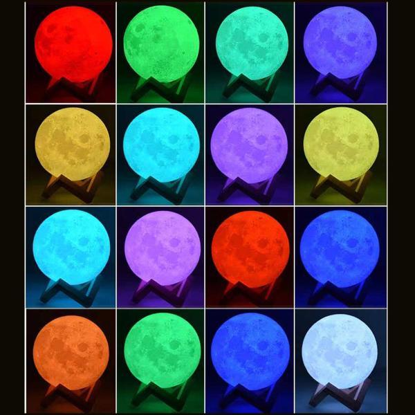 ムーンライト 月ライト 月のランプ ナイトライト 卓上ライト 常夜灯 防災グッズ 停電対策 夜間授乳 3Dプリント USB充電 リモコン タッチセンサー おしゃれ|ar-roman|07