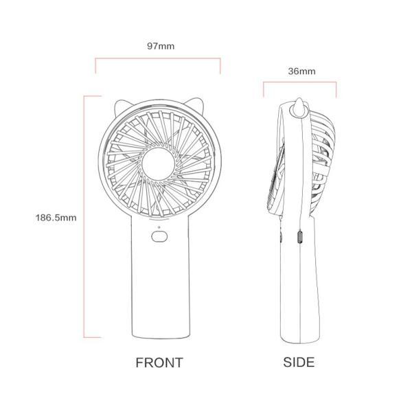 冷風機 首掛け 扇風機 ミニファン USB扇風機 ハンディ 携帯扇風機 充電式 4段風量調節 強風 容量 パワーバンク 小型 卓上 手持ち両用ファン 熱中症対策 おしゃれ ar-roman 19