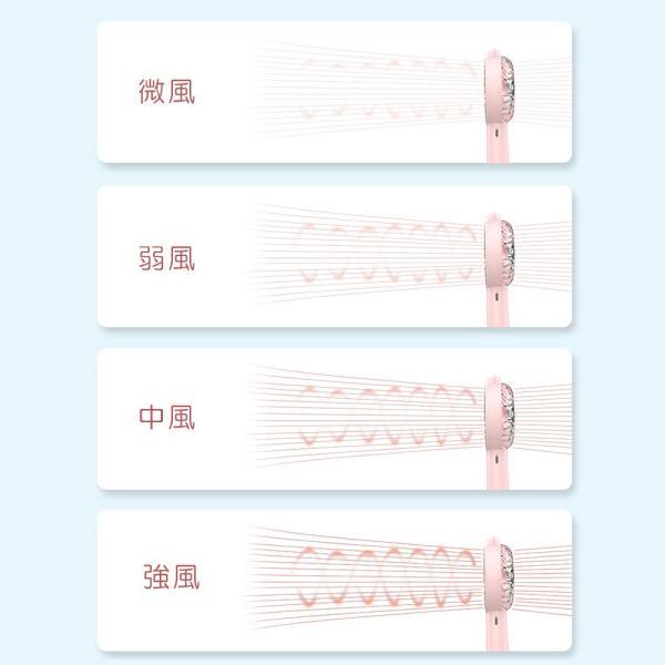 冷風機 首掛け 扇風機 ミニファン USB扇風機 ハンディ 携帯扇風機 充電式 4段風量調節 強風 容量 パワーバンク 小型 卓上 手持ち両用ファン 熱中症対策 おしゃれ ar-roman 04