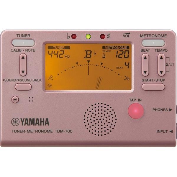 【送料無料】ヤマハ YAMAHA TDM700P チューナーとメトロノームが同時に使えるデュアル機能搭載  ピンク   TDM-700P(TDM-75PPの後継機種)|arabastamusic