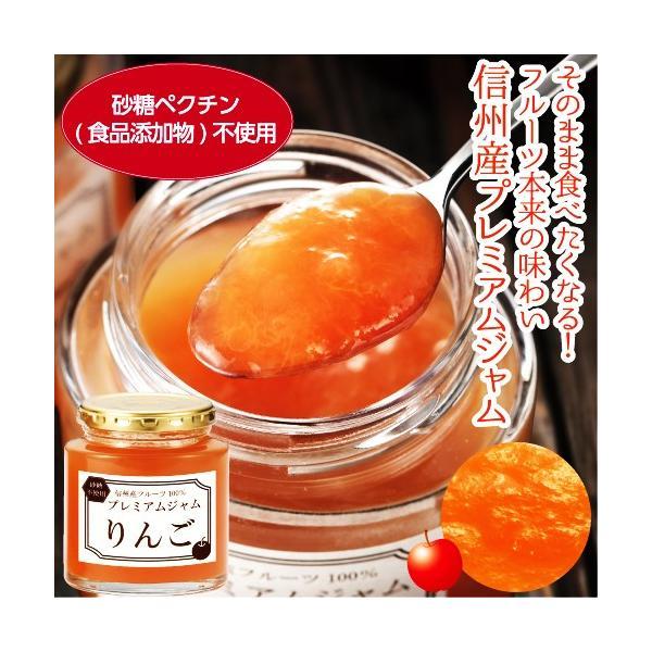 リンゴジャム 砂糖不使用 信州産 フルーツ100% プレミアムジャム りんご 240g