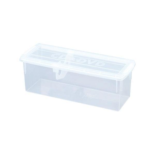 ナカバヤシ かたづけベスト キャパティ コンテナ 収納ボックス CD&DVDサイズ CDC-101-CRN クリア 450*172*163
