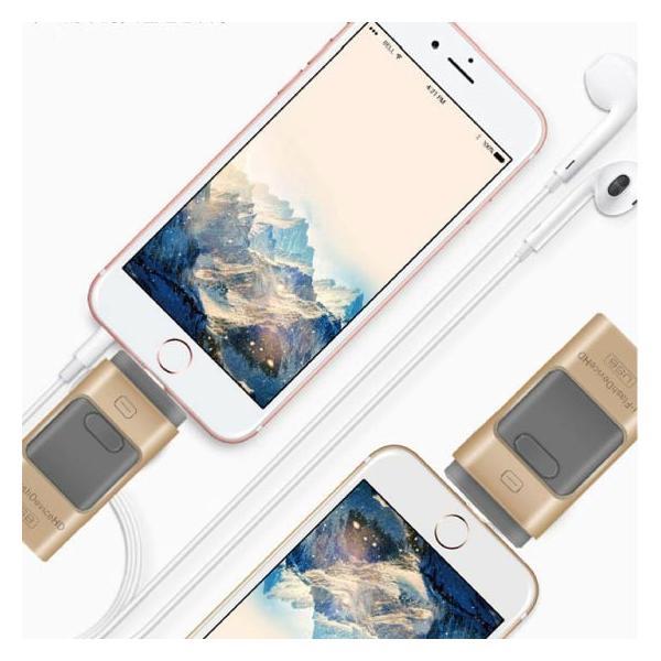 スマホ用 USB メモリー フラッシュメモリ 64G データー転送 USBotg iphone 7 8 X ipad ipod android pc タブレット 交換 大容量 Micro-B変換不要 外部メモリ拡張 arakawa5656 14