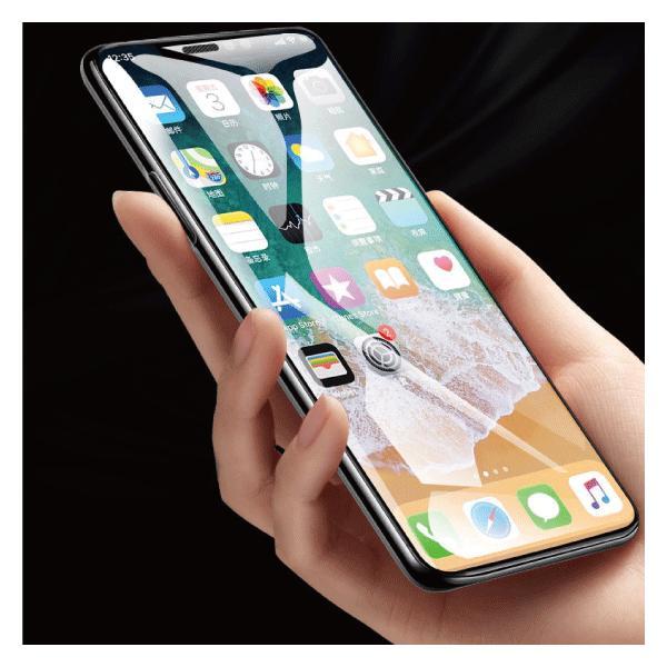 iPhoneXS Max XS XR X 8 Plus 8 7 Plus 7 6s Plus 6 Plus 6s 6 10D 強化ガラスフィルム 9H硬度 日本旭硝子製素材 衝撃吸収 気泡レス 全面保護|arakawa5656|11