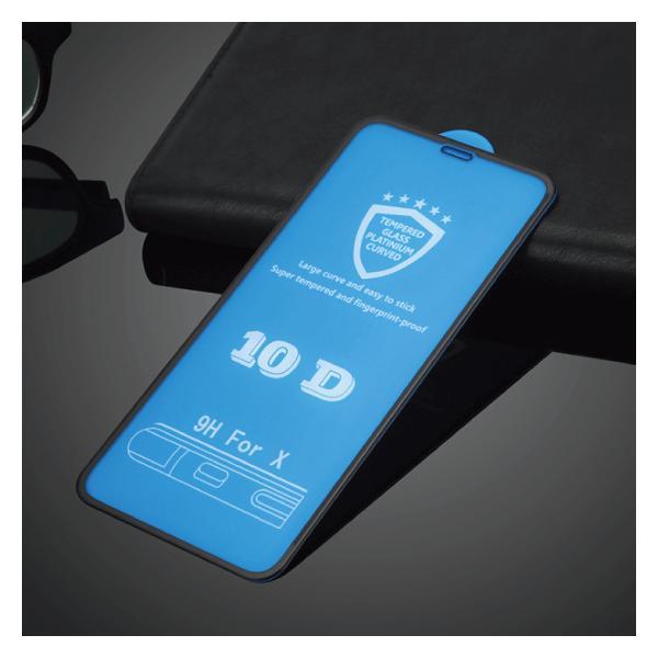 iPhoneXS Max XS XR X 8 Plus 8 7 Plus 7 6s Plus 6 Plus 6s 6 10D 強化ガラスフィルム 9H硬度 日本旭硝子製素材 衝撃吸収 気泡レス 全面保護|arakawa5656|15