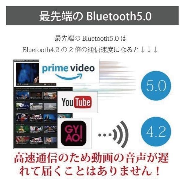 ワイヤレス イヤホン Bluetooth 5.0 高音質 長時間 軽量 防滴 iPhone Android SDカード スポーツ ランニング|arakawa5656|13