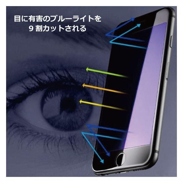 iPhone ブルーライトカット 強化ガラス 保護フィルム iPhoneXR iPhoneXS Max iPhone8 iPhone7 Plus iPhone6s iPhone6|arakawa5656|02