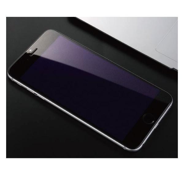 iPhone ブルーライトカット 強化ガラス 保護フィルム iPhoneXR iPhoneXS Max iPhone8 iPhone7 Plus iPhone6s iPhone6|arakawa5656|06
