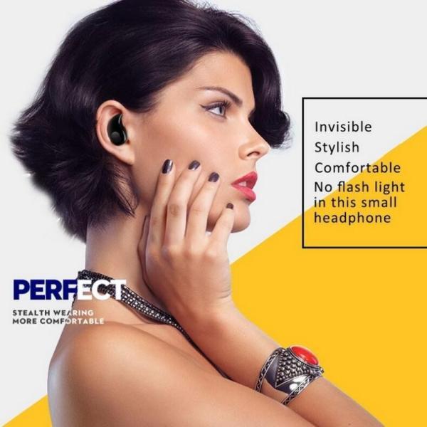 ワイヤレスイヤホン Bluetooth イヤホン 最新版 ブルートゥース s530 ヘッドセット 軽量 ヘッドホン 隠し型 オープン記念|arakawa5656|16