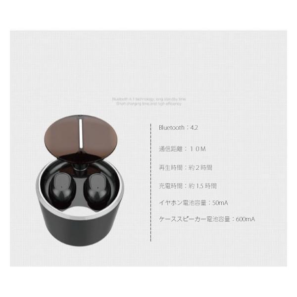 ワイヤレスイヤホン スピーカー bluetooth 一台二役 イヤホン 防水 両耳 iPhone android アンドロイド スマホ 高音質 ランニング スポーツ ジム 音楽|arakawa5656|19