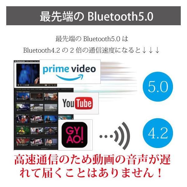 ワイヤレスイヤホン bluetooth 5.0 イヤホン IPX8防水 3000mAhモバイルバッテリー 両耳 ステレオ iPhone android アンドロイド スマホ 高音質 ランニング 音楽|arakawa5656|12
