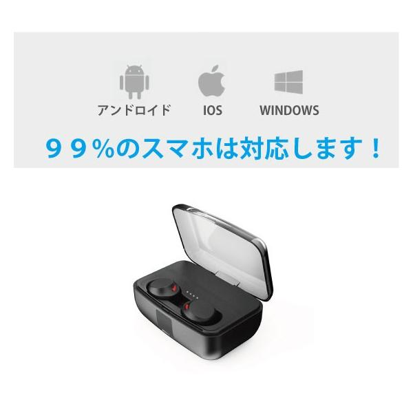 ワイヤレスイヤホン bluetooth 5.0 イヤホン IPX8防水 3000mAhモバイルバッテリー 両耳 ステレオ iPhone android アンドロイド スマホ 高音質 ランニング 音楽|arakawa5656|10