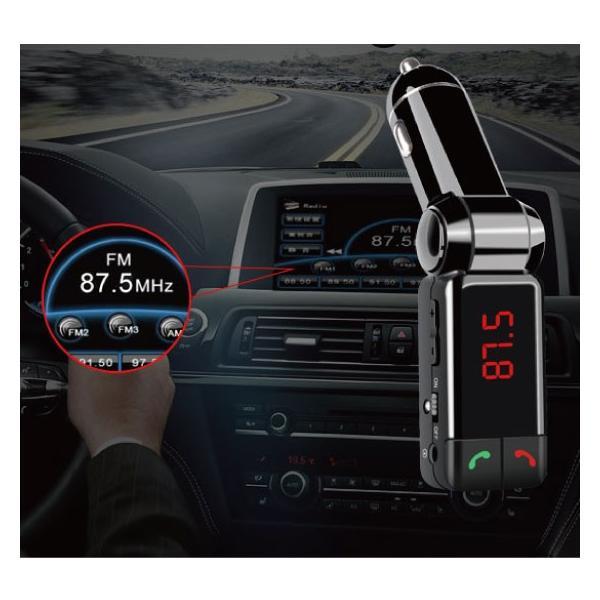 FMトランスミッター BC06 Bluetooth搭載 車内で音楽鑑賞 ハンズフリー通話|arakawa5656