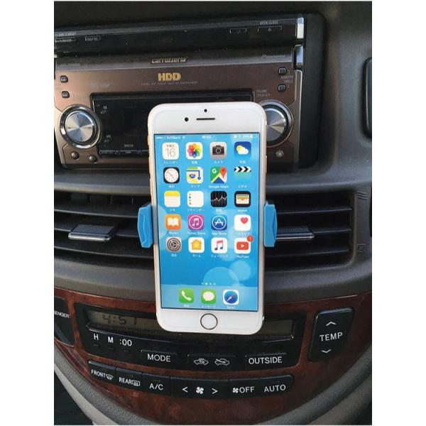 スマホ 車載ホルダー iphone6 iphone7 plus iphoneX 吹き出し口 スマホホルダー 360度回転可能   送料無料 arakawa5656 04