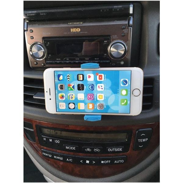 スマホ 車載ホルダー iphone6 iphone7 plus iphoneX 吹き出し口 スマホホルダー 360度回転可能   送料無料 arakawa5656 05