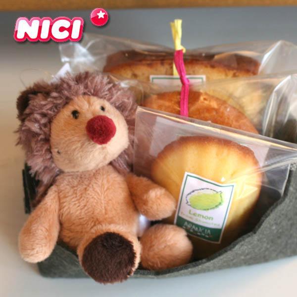 【NICI】ビーンバッグ(ハリネズミのキーホルダー)と和歌山産フルーツの焼き菓子プチギフト〜ドイツ生まれの安心マスコット〜クリスマスプレゼントお祝お礼