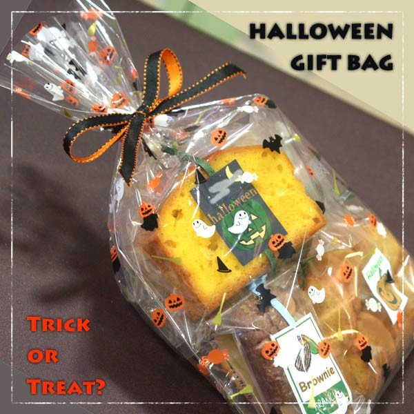 焼き菓子ギフトバッグ〜ハロウィーンアレンジ〜和歌山産フルーツとかぼちゃを焼き込んだ焼き菓子5個入りプチギフト