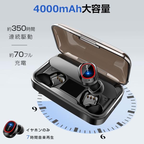 Bluetooth イヤホン ワイヤレスイヤホン Hi-Fi高音質 LEDディスプレイBluetooth5.1 350時間持続駆動 IPX7防水|aranet|11