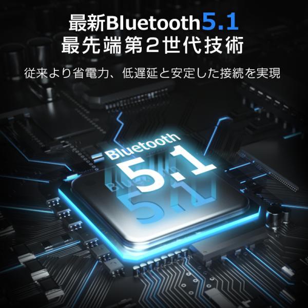 Bluetooth イヤホン ワイヤレスイヤホン Hi-Fi高音質 LEDディスプレイBluetooth5.1 350時間持続駆動 IPX7防水|aranet|05