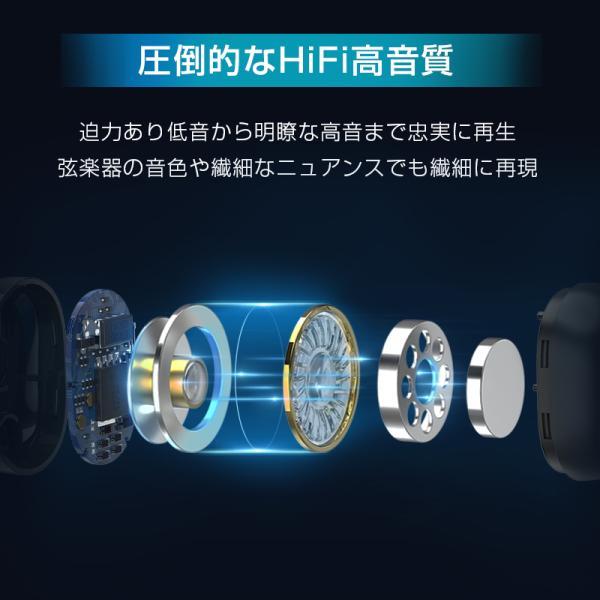 Bluetooth イヤホン ワイヤレスイヤホン Hi-Fi高音質 LEDディスプレイBluetooth5.1 350時間持続駆動 IPX7防水|aranet|06