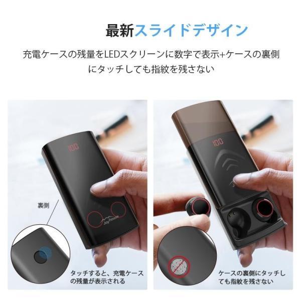 Bluetooth イヤホン ワイヤレスイヤホン Hi-Fi高音質 IPX7防水 ブルートゥース 自動ペアリング 3Dステレオサウンド CVC8.0ノイズキャンセリング&AAC8.0対応|aranet|11