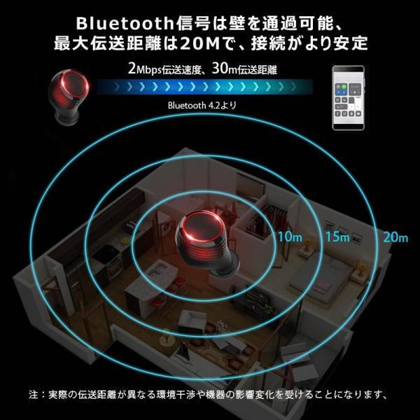 Bluetooth イヤホン ワイヤレスイヤホン Hi-Fi高音質 IPX7防水 ブルートゥース 自動ペアリング 3Dステレオサウンド CVC8.0ノイズキャンセリング&AAC8.0対応|aranet|06