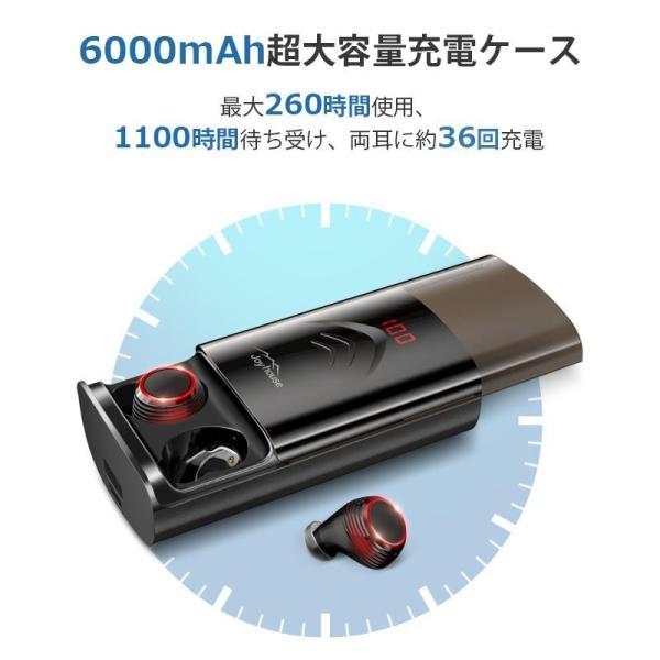 Bluetooth イヤホン ワイヤレスイヤホン Hi-Fi高音質 IPX7防水 ブルートゥース 自動ペアリング 3Dステレオサウンド CVC8.0ノイズキャンセリング&AAC8.0対応|aranet|09
