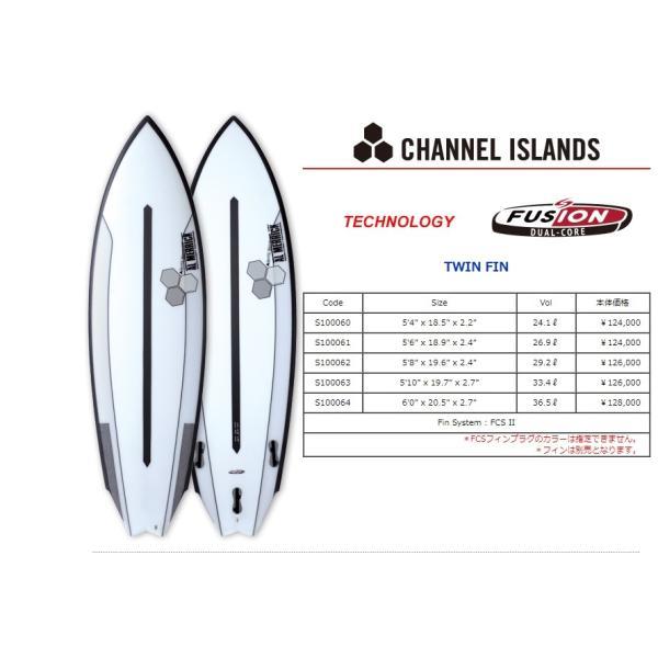 """【新品】CHANNEL ISLAND(チャネルアイランド) AL MERRICK TWIN FIN モデル サーフボード 5'8"""" SURFTECH アルメリック ショートボード"""
