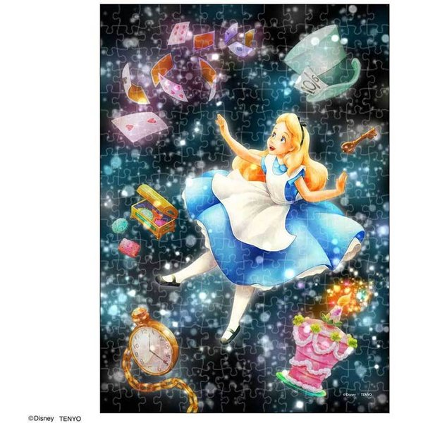 【新品】ジグソーパズル ディズニー キラキラ眩しい不思議な夢(アリス)【ステンドアート】(18.2x25.7cm)266P<テンヨー>