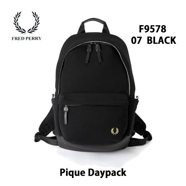Twin Tipped Rucksack All Black Backpack Fred Perry Bags L2201-154