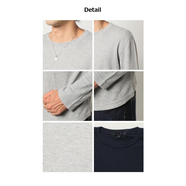 2016 秋 新作 ロンT 7分袖 人気 4万枚完売 サーマル ロングT ワッフル Tシャツ カットソー3