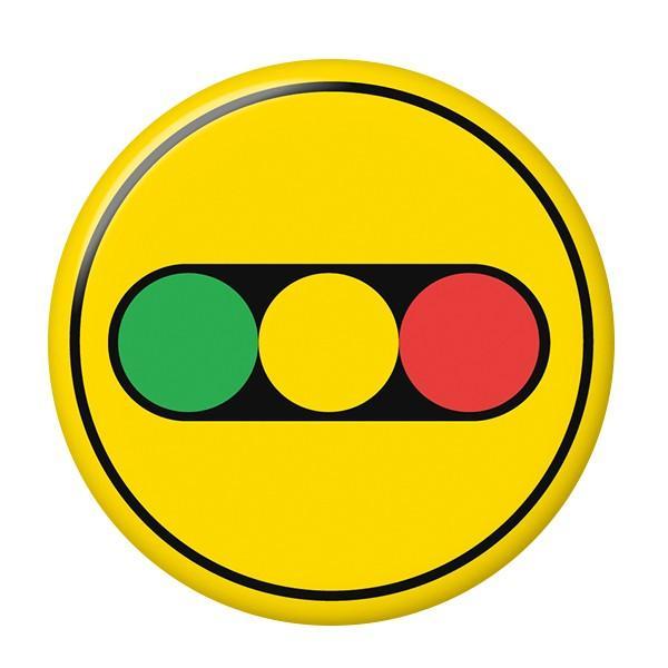 標識缶バッジ 【信号】 ボタンタイプ