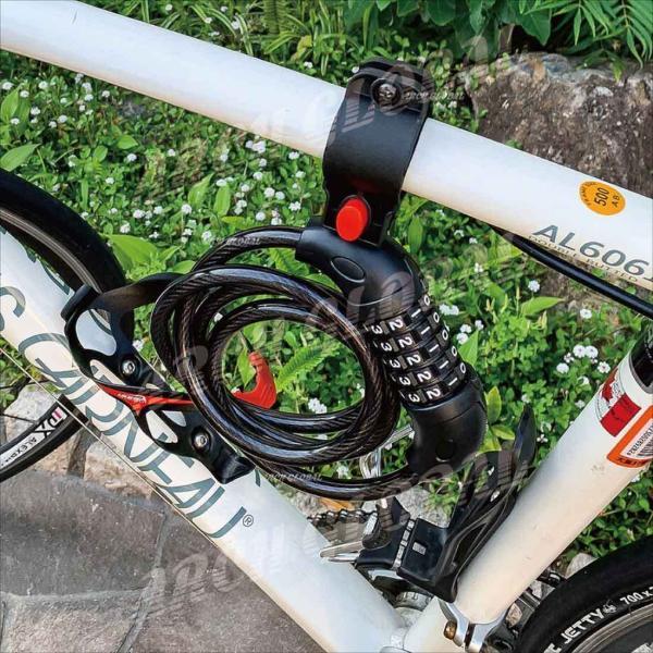 自転車ロック ダイヤルロック 5桁 ワイヤーロック 接続ブラケット ホルダー2個付 自由設計 バイクロック 自転車 鍵 ロードバイク 頑丈 保証書 日本語取説付き|arch-global|09