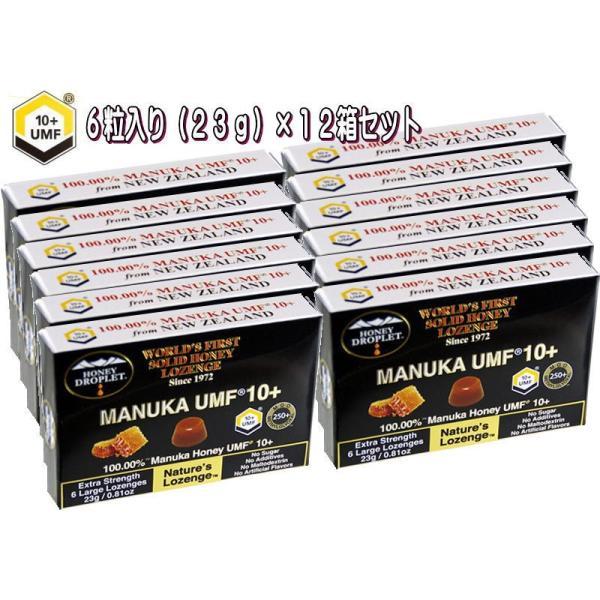 【12箱】ハニージャパン ハニードロップレット100% UMF マヌカハニー 10+ キャンディ のど飴 6粒入り オーガニック 無添加 正規品 食品 蜂蜜 はちみつ