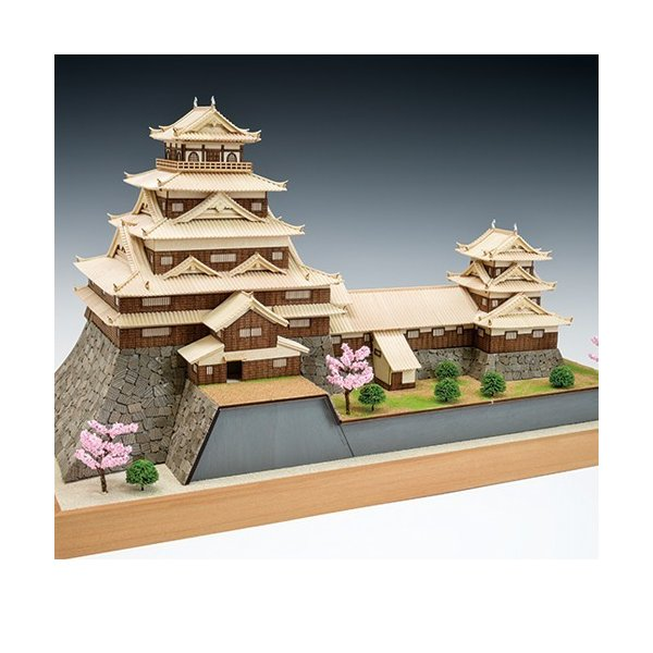 ウッディジョー木製建築模型1/150広島城