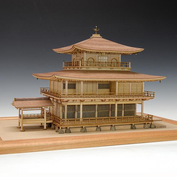 ウッディジョー木製建築模型1/75 鹿苑寺 金閣 (白木作り)改良版